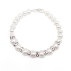 bransoletka białe perły swarovski