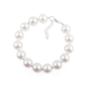 bransoletka perły białe swarovski
